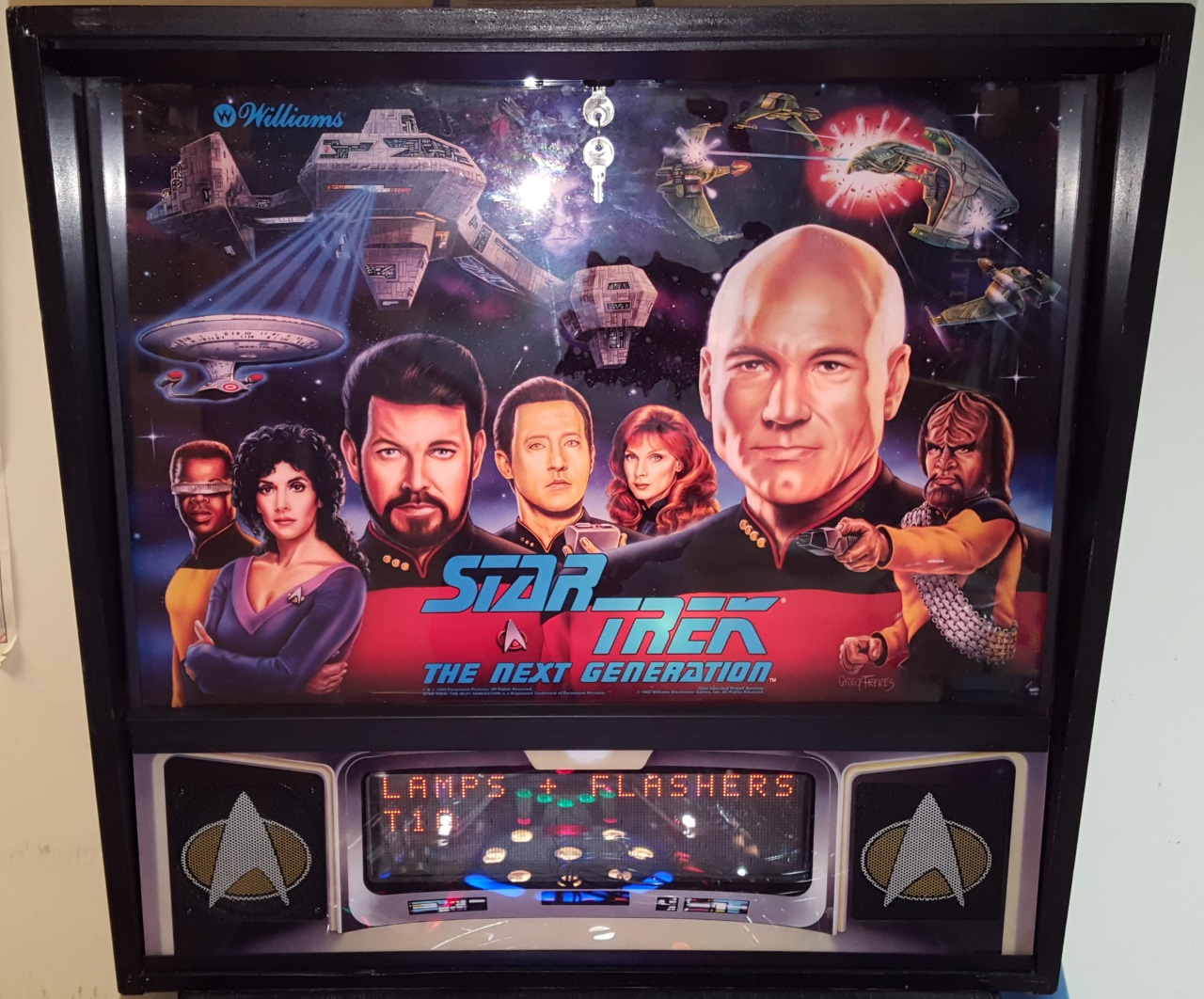 Star Trek Next Generation Pinball Back Glass